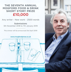 The Mogford Prize for Food and Drink Writing 2019