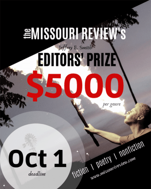 29th Annual Jeffrey E. Smith Editors' Prize