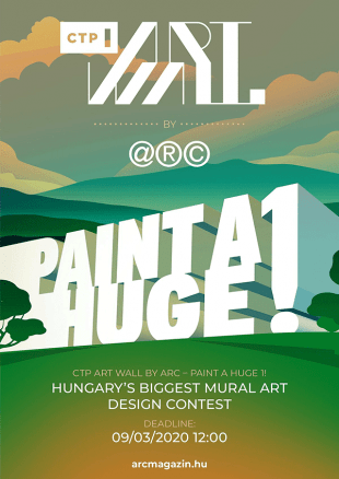 Paint a huge 1! Hungary's Biggest Mural Art Design Contest