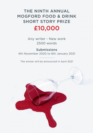 The Mogford Prize for Food and Drink Writing 2021